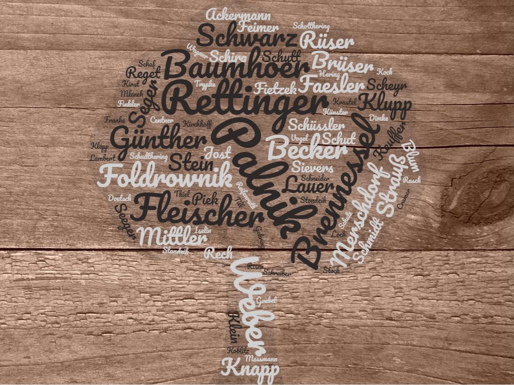 Ahnenforschung - meine Familiennamen