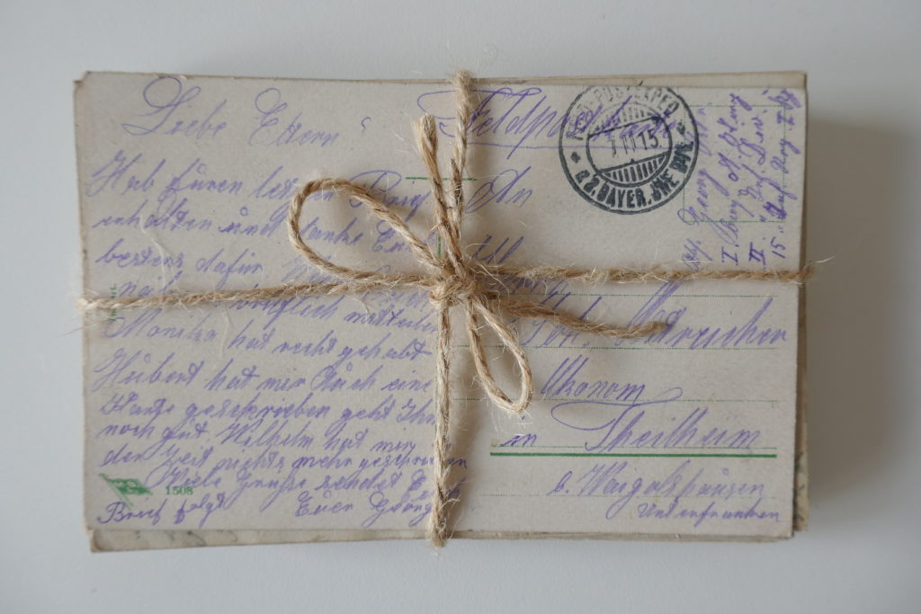 alte Fotos retten Postkarte
