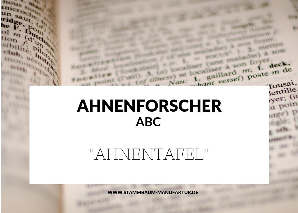 Blogbeitrag Ahnentafel